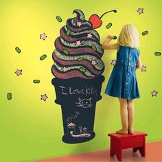 ice-cream-chalkboard-wall-decoration-ideas-sundae