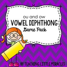 """This game pack includes TWO games designed to practice words with the /ou/ and /ow/ diphthongs. Games Included: One """"I have...who has...?"""" game and one Connect Four game board. Words Included: owl, out, down, house, around, counted, wow, how, cow, town, crown, brown, loud, cloud, round, sound, found, ground, now, gown, pouch, shout, rowdy, couch, hour."""