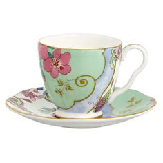 Buy Wedgwood Butterfly Bloom Espresso Cup & Saucer Online at johnlewis.com