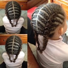 Cute Cornrows hairstyle for kids #ProtectiveHairstyles #HairstylesForKids