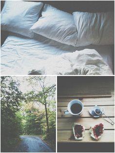 naps, walks, toast and coffee.
