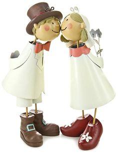 Jullar BIF 2226 Tortenfiguren, Knutschis Brautpaar natürlich