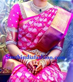blouse designs for south indian bridal sarees