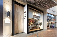Eccentric Retail Store Design Kitchen Center by Kit Corp Architects Retail Facade, Shop Facade, Retail Store Design, Retail Shop, Shop Fronts, Retail Interior, Facade Design, Entrance Design, Kitchen Store