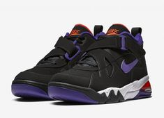 adaa40c54aa The Nike Air Force Max CB Suns (Style Code  comes dressed in a Black Court  Purple-Team Orange-White colorway with a release date set for