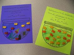 activities/printables using colored Goldfish