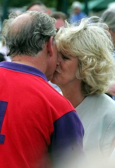 Prince Charles and Camilla Duchess of Cornwall at the Burberry Cup in 2005.
