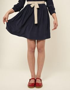 Sandy Bow Skirt (navy) So old fashioned LOVE IT