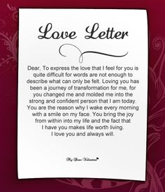 good valentines day letters
