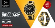 Malabar Watches presents the best collection of Rado watches, one of the most exclusive and adorned wrist watch brands across the globe.