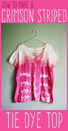 How to Tie Dye Cool Stripes