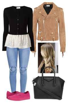 """""""Peplum."""" by frenkiefashion on Polyvore featuring Yves Saint Laurent, RED Valentino, Vans and Givenchy"""