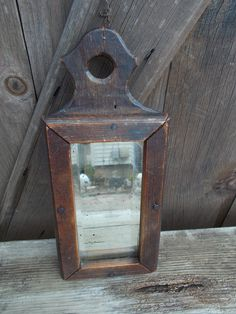 Early Framed Fragment Mirror, Iron & Steel Nails Primitive Furniture, Primitive Antiques, Country Primitive, Old Mirrors, Vintage Mirrors, Mirror Mirror, Steel Nails, Wall Boxes, Primitive Gatherings