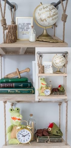 Ideas for how to decorate birch shelf
