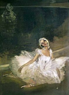 Sir John Lavery (1856-1941) ~ The Dying Swan ~ Anna Pavlova, 1911
