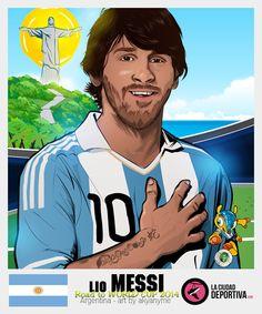 Stickers Brazil 2014: Lionel Messi - Argentina by akyanyme.deviantart.com on @deviantART