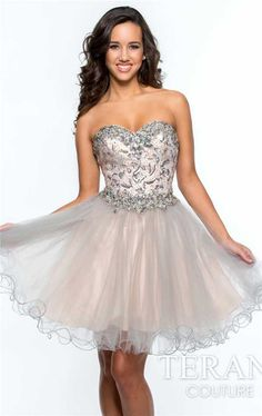 Terani 151P0023 Strapless Beaded A Line Cocktail Dresses Discount ...