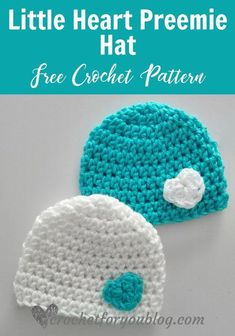 crochet hat patterns February is a month of love, we can make it meaningful. Every life is a precious, even they come to the world right time or early. Little Heart Preemie Crochet Crochet Preemie Hats, Crochet Baby Hats Free Pattern, Bonnet Crochet, Crochet Baby Beanie, Crochet For Kids, Crochet Granny, Crochet Stars, Crocheted Hats, Crochet Flower Hat