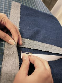 Easy Denim Skirt Tutorial for the Beginner Sewist via The Thinking Closet