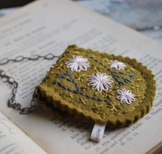 Pouch Necklace - For Holding Your Secret Message. $29.00, via Etsy.