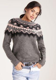 Vero Moda VMALBANY - Pullover - medium grey melange rose cloud and -  ZALANDO. 87e2f6e5618