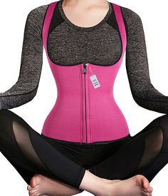 Sauna Yoga Slimming Sweat Vest Hot Neoprene Shirt Body Shapers for Weight Loss >>> You can get additional details, click the image : Weight loss Diet Kits