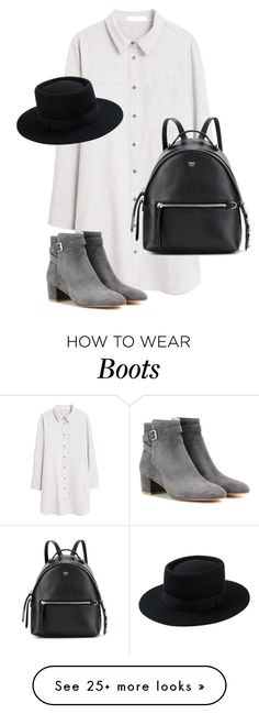 """""""Untitled #10445"""" by alexsrogers on Polyvore featuring MANGO, Gianvito Rossi and Fendi"""