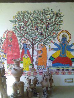 Indian folk art (Madhubani painting)