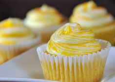 Meyer-Lemon Mango Cupcakes