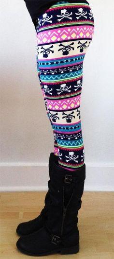 Women leggings, Flower Leggings, Colorful Leggings, yoga Leggings, Pattern Leggings, flowers Leggings, aztec leggings, skull leggings on Etsy, $16.00 by addie
