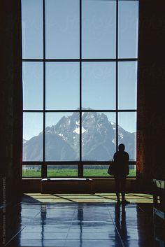 Per Swantesson for Stocksy United:  Grand Teton National Park Visitor Center