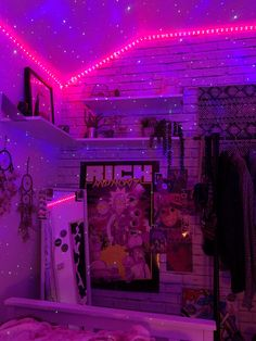 Neon Bedroom, Indie Bedroom, Indie Room Decor, Cute Bedroom Decor, Room Design Bedroom, Teen Room Decor, Room Ideas Bedroom, Hippie Bedrooms, Bedroom Inspo