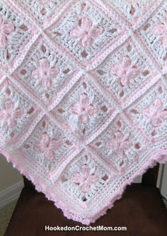 Baby Girl Afghan Granny Square