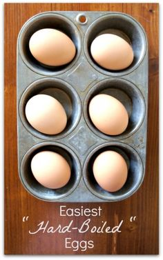 Easiest Hard Boiled Eggs Ever!  I like to make about 6 eggs at a time and eat them on salads all week!