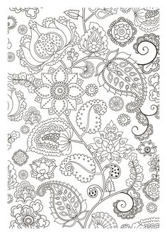 Paisley Coloring Pages for Adults Dover Paisley Designs Coloring