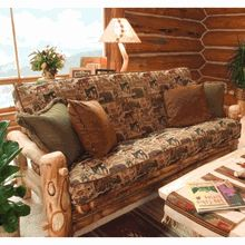 Take a look at this American-made handcrafted Aspen Log Queen Futon - we've included a video on how to operate it.