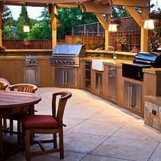 Backyard kitchen ideas outdoor kitchen countertops pictures ideas from hgtv hgtv Outdoor Rooms, Outdoor Living, Outdoor Kitchens, Outdoor Cooking, Outdoor Entertaining, Outdoor Grilling, Party Outdoor, Indoor Outdoor, Outdoor Kitchen Countertops
