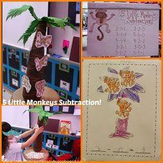 A Kindergarten Smorgasboard Adding and Subtracting Monkey FREEBIE!