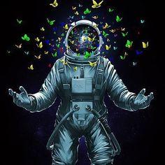 Space Wallpaper, Space Artwork, Galaxy Wallpaper, Wallpaper Backgrounds, Wallpaper Ideas, Mobile Wallpaper, Astronaut Illustration, Space Illustration, Cosmos