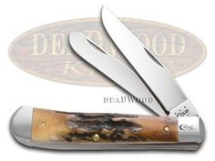 CASE XX Prime Stag Trapper Stainless Pocket Knife - CA12391 | 12391 - 021205123912