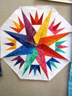 Canton Village Quilt Works: Day 3... Mariner's Compass