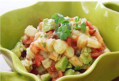 Zesty Lime Shrimp and Avocado Salad recipe | BigOven