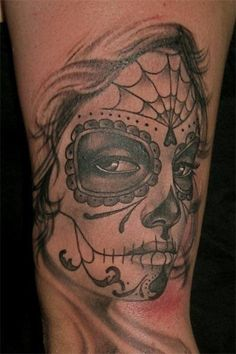 """Day of the Dead La Catrina giclee art print 11""""x14"""" tattoo skull Dia de los Muertos. Description from pinterest.com. I searched for this on bing.com/images"""