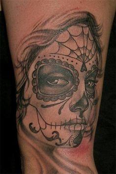 Dia De Los Muertos Catrina Aztec Tattoo