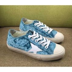 Chaussures Golden Goose V Star Femme Sneakers GGDB Bleu Blanc