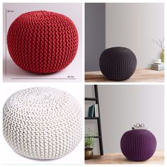 Multicolor crochet cotton beanbags