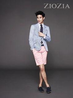 Kim Soo Hyun transforms into a working businessman for recent 'ZIOZIA' photoshoot #allkpop #kpop