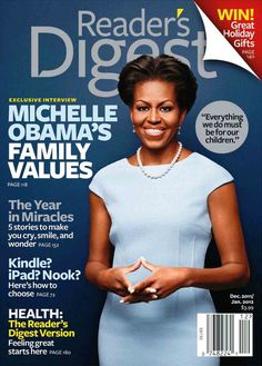 Michelle Obama on cover of Reader's Digest.