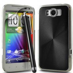 Black Aluminium Case Fits HTC Sensation XL from Case R Us