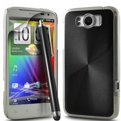 Black Aluminium Case Fits HTC Sensation XL from Case R Us